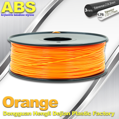 Orange Materialien 1.75mm des Drucken3d ABS 3D Drucker-Faden in der Rolle